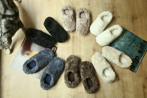 Womens Fuzzy Curly Fur Memory Foam Slippers Lightweight House Shoes Size 5 6 7