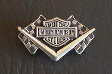 Outlaw Biker Harley Davidson Barshield Motorcycle Racing Flags Pin Badge MC