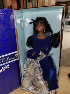 Vintage 1995 Avon Exclusive Winter Velvet Barbie Doll African American Mattel