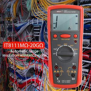 IT811 Auto-Range Insulation Resistance Meter Digital Megger Ohmmeter Tester
