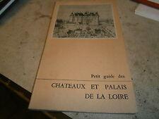 Guide Chateaux et palais de la loire 1956