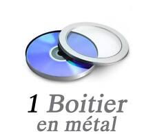 Boitier pour 1 CD/DVD en métal rond avec fenêtre