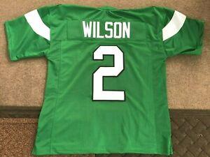 UNSIGNED CUSTOM Sewn Stitched Zach Wilson Green Jersey - M, L, XL, 2XL