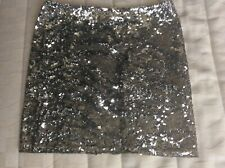 Women's silver sequins mini Krizia skirt size 40