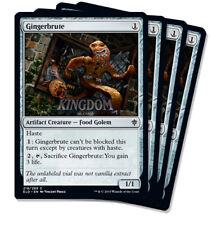 4x Gingerbrute - Throne of Eldraine - NM - Playset - English - MTG