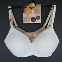 BNWT M&S Marks & Spencer Post Surgery Non Wired 2 Pack Bras White/Nude size 32D