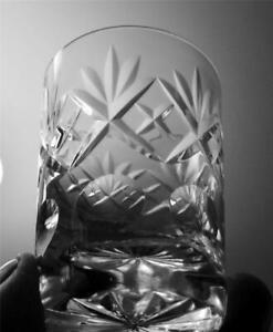 One Webb Corbett Lead Crystal Cut Glass Whiskey Glass Georgian Pattern c1970