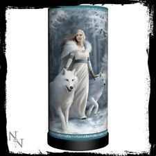 Anne Stokes electric table lamp featuring Winter Guardian