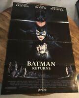 Batman Returns RARE style one sheet movie poster with date 27x40 MICHAEL KEATON