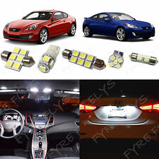 8x White LED lights interior package kit 2010 & Up Hyundai Genesis Coupe YG1W