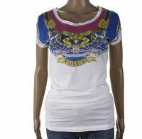 Love Moschino Taglia 42 Maglietta T-Shirt Blusa Maniche Corte Girocollo Donna