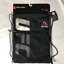 NEW Reebok UFC Gym Sack Bag Backpack (AZ8804) Black Red