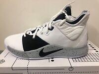 Nike PG 3 Moon AO2607-101 White Black Grey PG3 Mens Basketball Shoes Sneakers