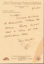 Jim Tunney NFL Referee Signed 1987 Handwritten Letter