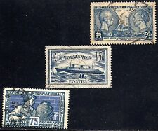 FRANCE COMMEMORATIVE STAMPS — (8) DIFFERENT   1920s     USED