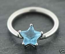 Pelota piercing closure anillo estrella Old School 1,6mm Aqua pecho tabique piercing oreja