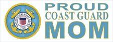 Proud Coast Guard Mom   -  Bumper Sticker Decal U.S. United States Coast Guard