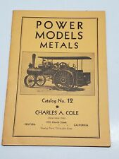 Vtg Power Models Metals Charles A Cole Catalog # 12 1949 Model Engineer Supplies