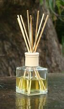 Vanilla Creme Brulee Chefs Scented Diffuser Aroma Reeds in a Square Glass Jar