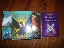 NEW Lot of 6 1-5 PERCY JACKSON & the OLYMPIANS Riordan Series Set + DEMIGODS