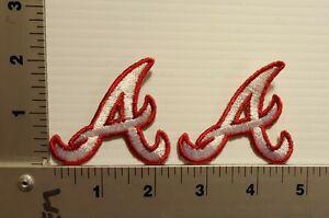 2-PCS ATLANTA BRAVES  (A)  VINTAGE EMBROIDERED PATCH