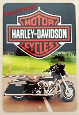 Fathers Day Photo Metal Sign His Harley Davidson
