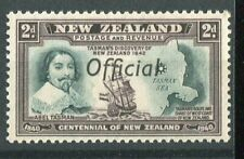 New Zealand KGVI 1940 Official 2d blue-green & chocolate SG.O144 MNH