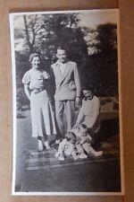 Photograph Social History 1930's Family Group Garden Baby's Tartan rug 1930's