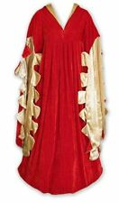LARP Red Medieval Renaissance Style Velvet Luxury Gown Long Train Sleeve Detail