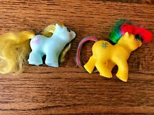 LOT 2 Vintage My Little Pony G1 Jangles Newborn + Tic Tac Toe First Tooth Baby