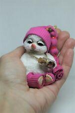 OOAK  CROCHETED MINIATURE SNOWMAN  by Alice Bears