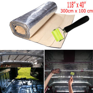 "118""x40"" Sound Deadener Car Insulation Automotive Heat Shield Self-adhesive 10mm"
