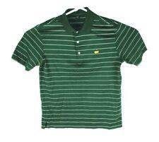 Masters Amen Corner Green Striped Logo Polo Golf Shirt S/S Mens Medium ~M~