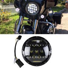7in LED Projector Black Headlight For Harley Davidson Street Glide Softail FLHX