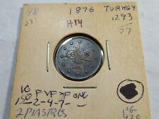 H14 Turkey / Ottoman Empire AH-1293//27 (1876) 2 Piastres