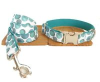Dog Collar And Lead Set Polka Dot Pet UK Seller DC5