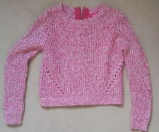Girls pink knitwear jumper top age 10-11 years