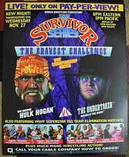 WWE WWF Survivor Series 1991 Poster 16x20 Undertaker