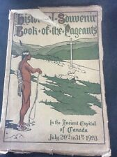 RARE Historical souvenir & book of pageants 300th Anniversary founding of QUEBEC