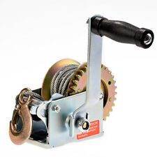 Durable Steel 600 lb Load Marine Boat Trailer Winch Hand-Crank w/ 26 ft Cable