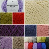 Rico Creative So Cool + So Soft Cotton Chunky Summer Knitting Crochet Yarn 100g