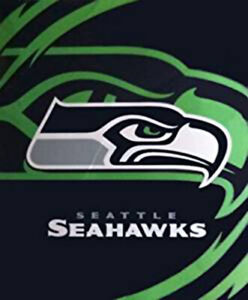 BIG QUEEN SIZE NFL SEATTLE SEAHAWKS FOOTBALL TEAM SOFT WARM BEDROOM BED BLANKET