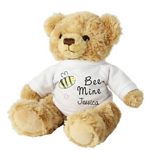 PERSONALISED BEE MINE MESSAGE TEDDY BEAR