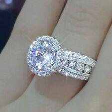 Shine Women 925 Silver Rings White Sapphire Wedding Ring Free Ship Size 6-10