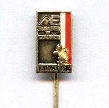 European Junior Championship in Chess KATOWICE 1984 pin badge