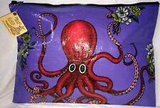 Blue Q. Tasche Mappe Zipper Pouch Krake Octopus Rockabilly 25 x 35 cm  NEU