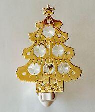 "SWAROVSKI CRYSTAL ELEMENTS ""Christmas Tree""  NIGHT LIGHT 24KT GOLD PLATED"