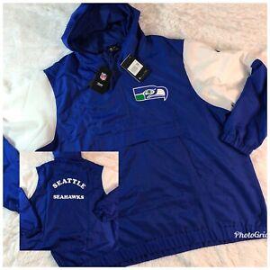 Nike RARE Seattle Seahawks Retro Historic Anorak 1/4 Zip Jacket 2XL CD8771-417