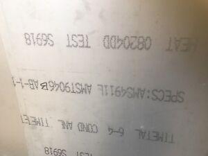 "Titanium Sheet 6Al-4V .032 X 12 X 14"" AMS 4911 Mill Vsmpo"