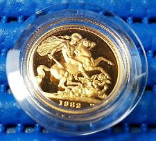 1982 United Kingdom The Proof Sovereign Commemorative Gold Coin